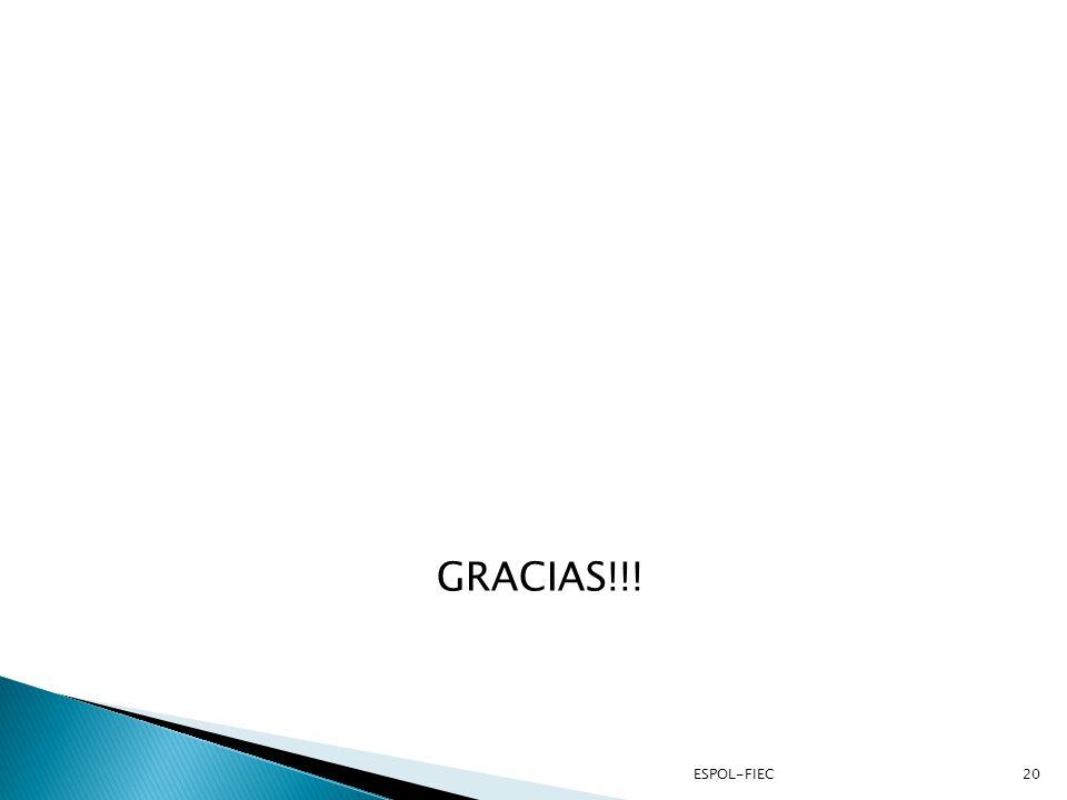 GRACIAS!!! ESPOL-FIEC20