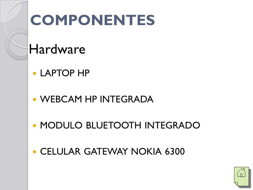 COMPONENTES LAPTOP HP WEBCAM HP INTEGRADA MODULO BLUETOOTH INTEGRADO CELULAR GATEWAY NOKIA 6300 Hardware