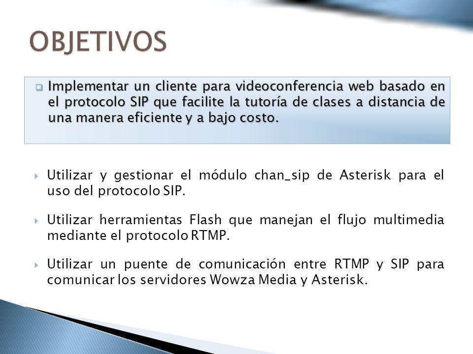 Utilizar y gestionar el módulo chan_sip de Asterisk para el uso del protocolo SIP.