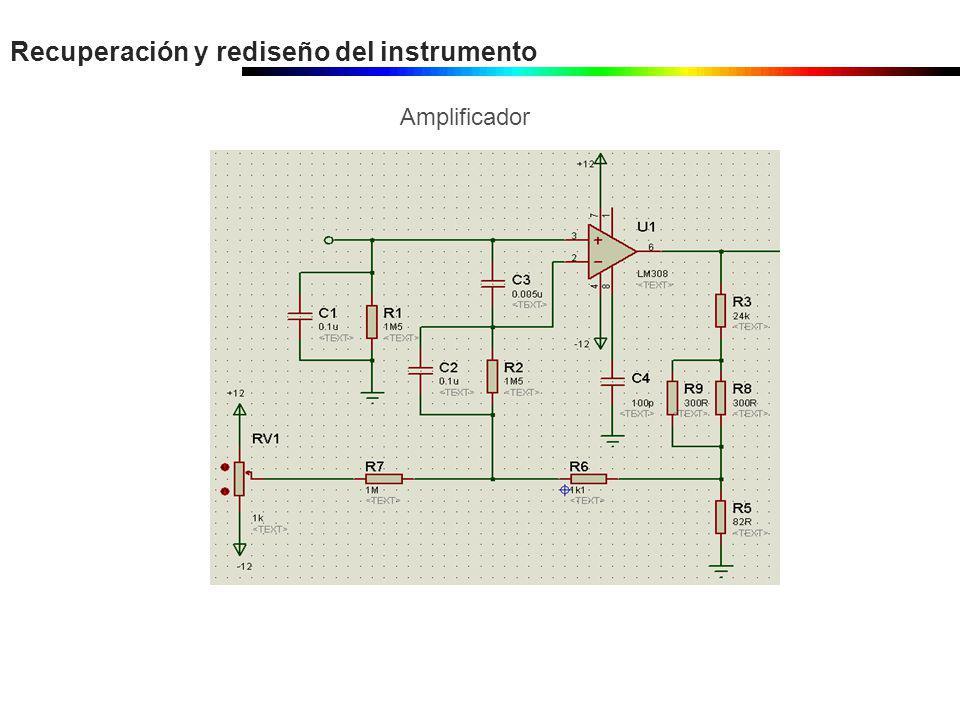Recuperación y rediseño del instrumento Amplificador