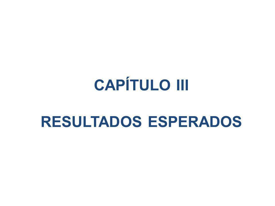 CAPÍTULO III RESULTADOS ESPERADOS