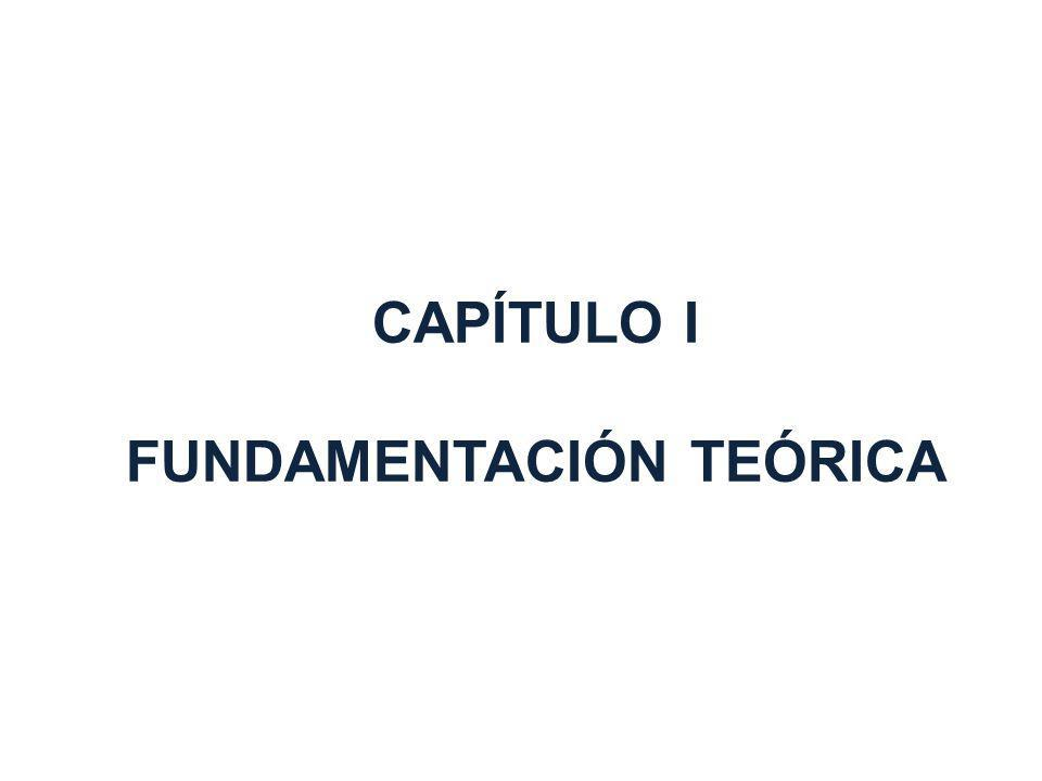 CAPÍTULO I FUNDAMENTACIÓN TEÓRICA