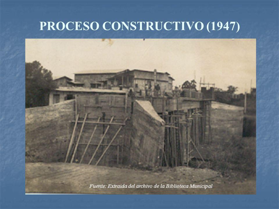 Fuente: Extraida del archivo de la Biblioteca Municipal PROCESO CONSTRUCTIVO (1947)