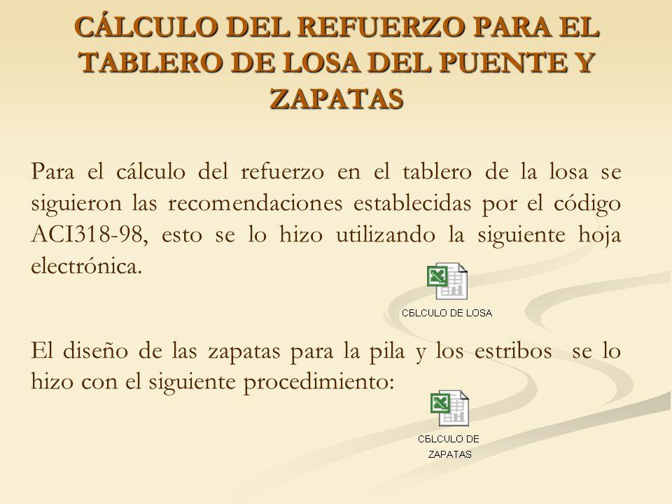 CÁLCULO DE CAPACIDAD DE CARGA DE PILOTES El cálculo de la capacidad de carga de los pilotes se lo realizó utilizando métodos empíricos tal como lo determina el literal 4.5.6.1.2 y 4.5.6.1.3 del manual de la AASTHO 96.
