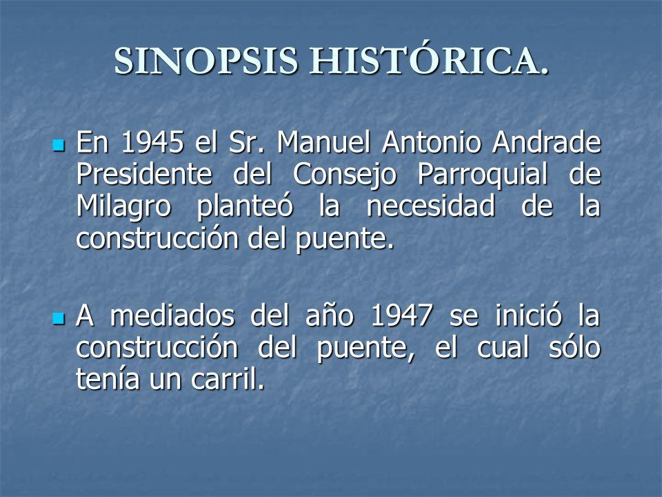 SINOPSIS HISTÓRICA.En 1945 el Sr.