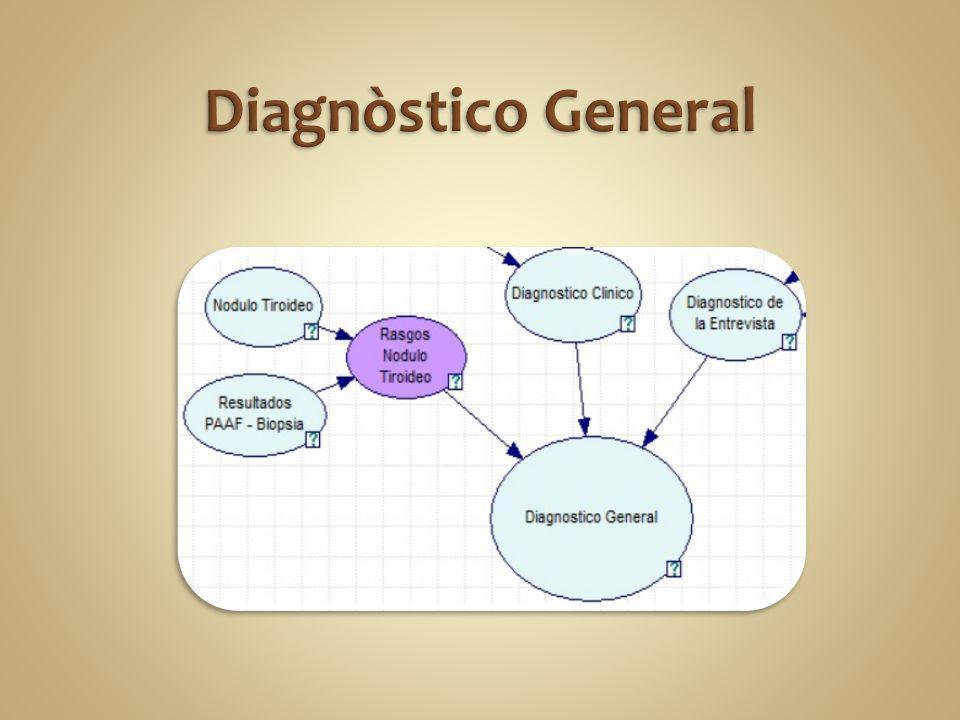Por medio del software GeNie se utilizo el método de análisis de sensibilidad de tipo probabilístico, para dicho análisis se ingreso evidencia sobre una variable a la vez.