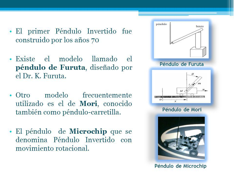 Péndulo de Furuta El primer Péndulo Invertido fue construido por los años 70 Existe el modelo llamado el péndulo de Furuta, diseñado por el Dr.
