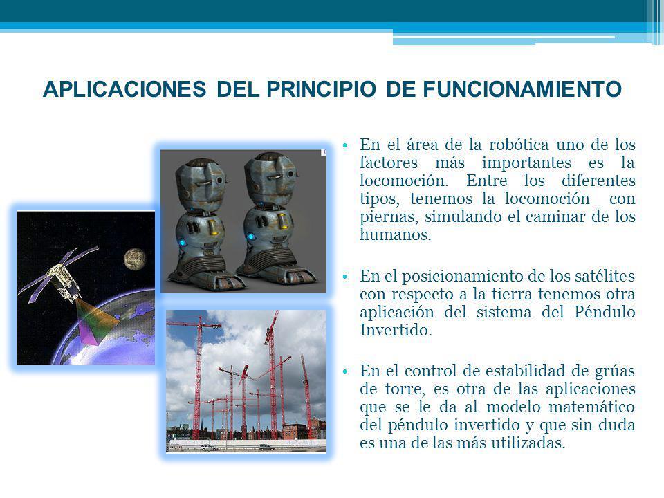 APLICACIONES DEL PRINCIPIO DE FUNCIONAMIENTO En el área de la robótica uno de los factores más importantes es la locomoción.