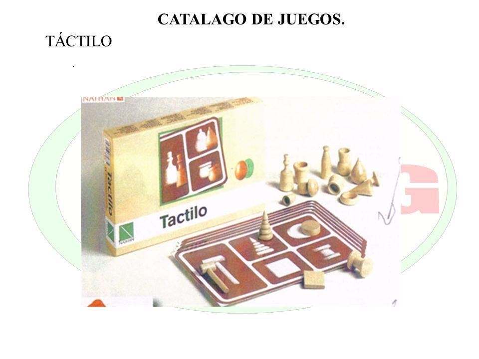 . CATALAGO DE JUEGOS. TÁCTILO