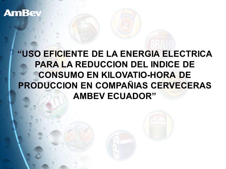 USO EFICIENTE DE LA ENERGIA ELECTRICA PARA LA REDUCCION DEL INDICE DE CONSUMO EN KILOVATIO-HORA DE PRODUCCION EN COMPAÑIAS CERVECERAS AMBEV ECUADOR