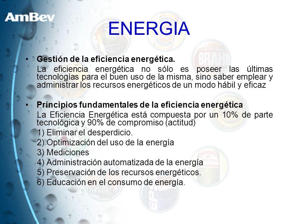 ENERGIA Gestión de la eficiencia energética. La eficiencia energética no sólo es poseer las últimas tecnologías para el buen uso de la misma, sino sab