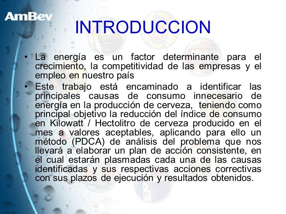 INTRODUCCION La energía es un factor determinante para el crecimiento, la competitividad de las empresas y el empleo en nuestro país Este trabajo está