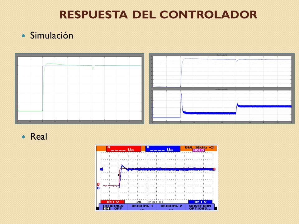 RESPUESTA DEL CONTROLADOR Simulación Real