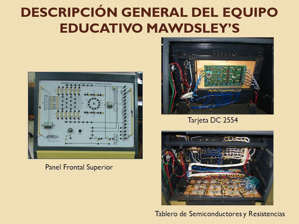 DESCRIPCIÓN GENERAL DEL EQUIPO EDUCATIVO MAWDSLEYS Controlador PI de Corriente