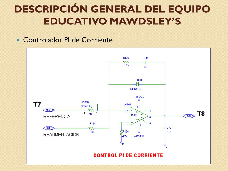 DESCRIPCIÓN GENERAL DEL EQUIPO EDUCATIVO MAWDSLEYS Controlador de Voltaje y Velocidad