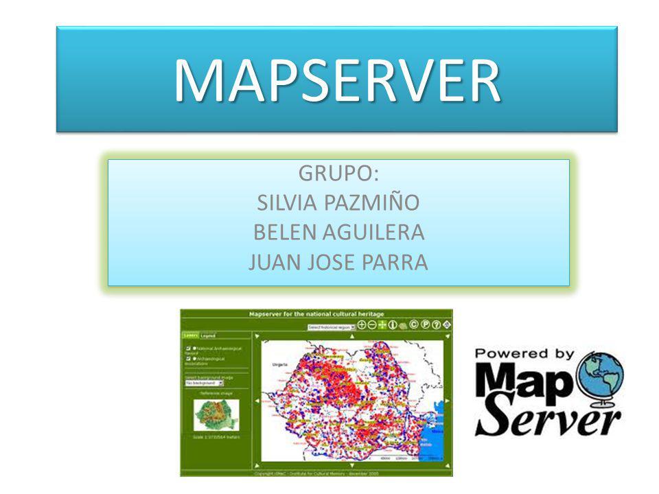 MAPSERVERMAPSERVER Es un entorno de desarrollo en código abierto (Open Source Initiative) para la creación de aplicaciones GIS en Internet/Intranet con el fin de visualizar, consultar y analizar información geográfica a través de la red mediante la tecnología Internet Map Server (IMS).