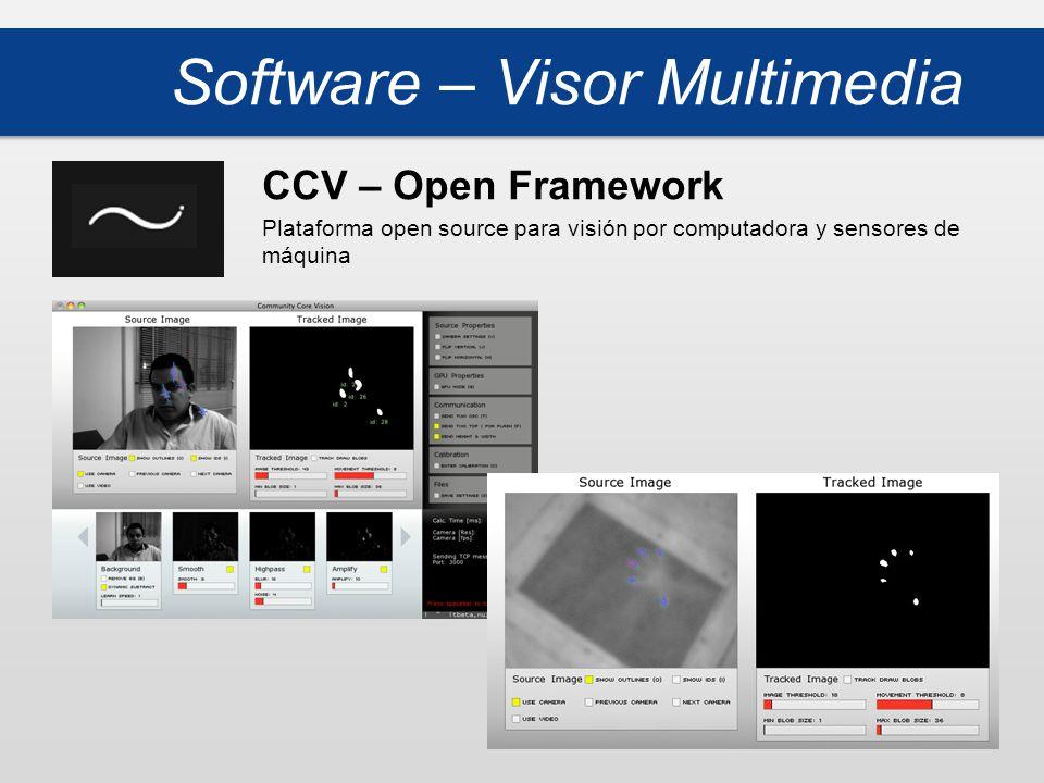 Software – Visor Multimedia CCV – Open Framework Plataforma open source para visión por computadora y sensores de máquina