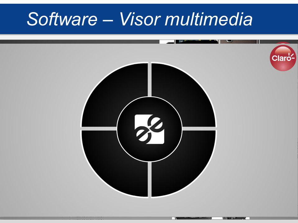 El visor tiene como propósito mostrar elementos multimedia, soportando formatos de imágenes y video, leyendo por detrás un xml, adaptable a cualquier marca, dando relevancia al contenido (producto) Software – Visor multimedia