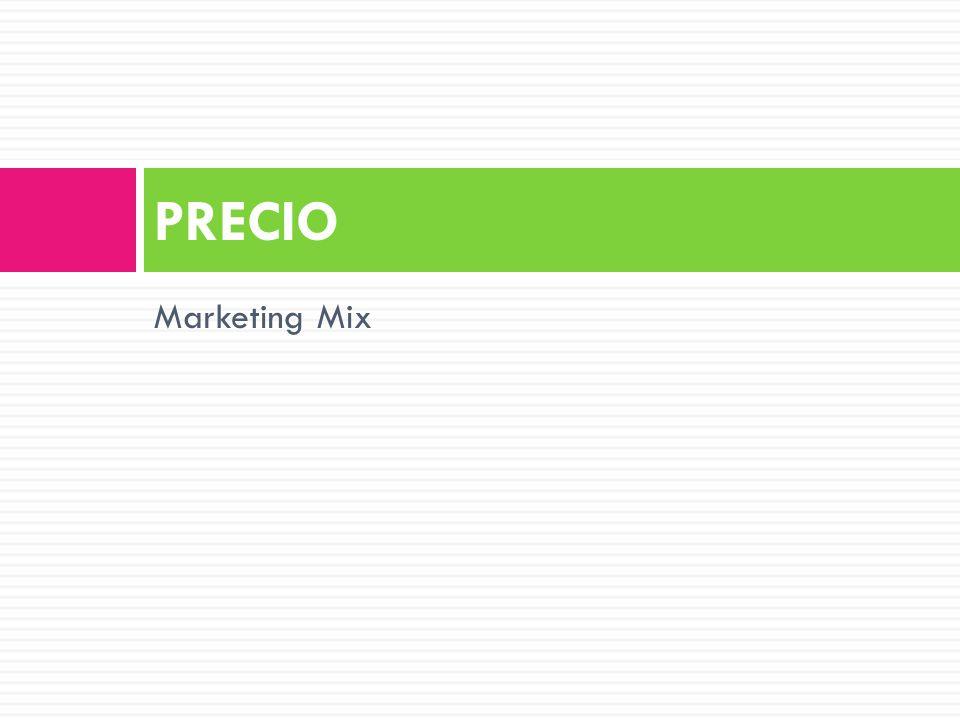Marketing Mix PRECIO
