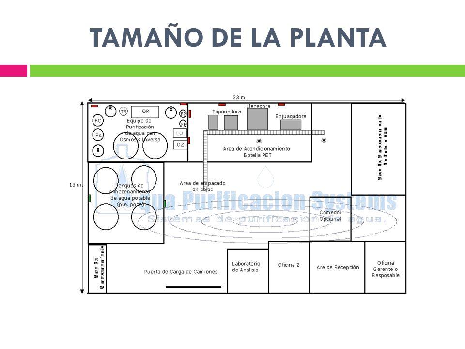 TAMAÑO DE LA PLANTA