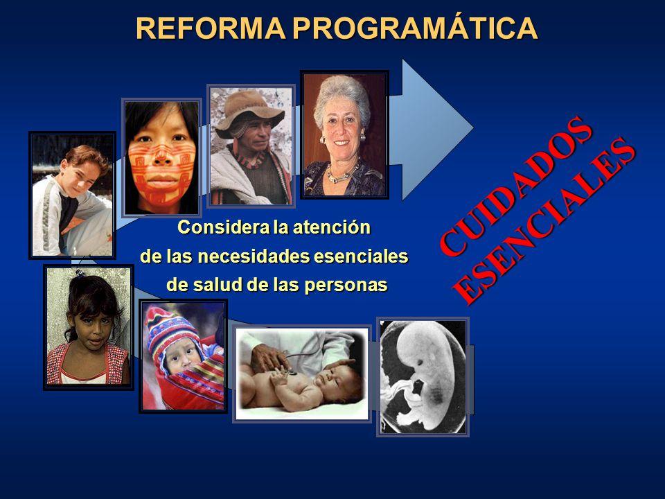 ATENCION INTEGRAL DE SALUD Provisión continua y con calidad de una atención orientada hacia la promoción, prevención, recuperación y rehabilitación en salud para las personas, en el contexto de su familia y comunidad