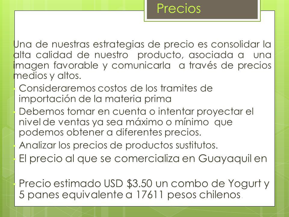 FABRICANTE: YOGURT PERSA -ECUADOR CONSUMIDOR - CHILENO FRANQUI CIA YOGURT PERSA - CHILE Vamos a empezar con un local de la franquicia en el centro de Chile y de ahí poco a poco continuaremos expandiendonos.