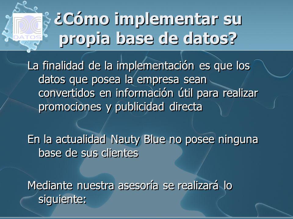 ¿Cómo implementar su propia base de datos? La finalidad de la implementación es que los datos que posea la empresa sean convertidos en información úti