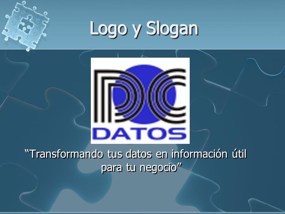 Logo y Slogan Transformando tus datos en información útil para tu negocio