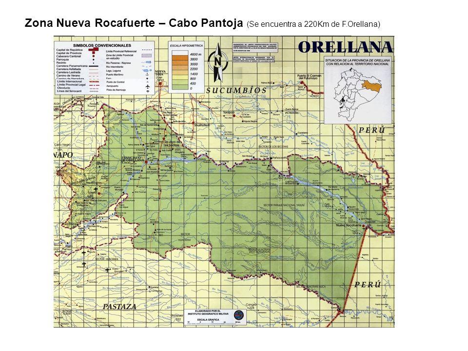 Zona Nueva Rocafuerte – Cabo Pantoja (Se encuentra a 220Km de F.Orellana)