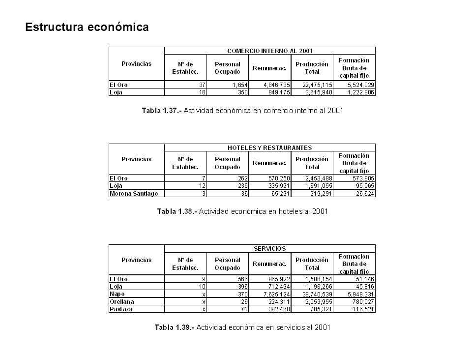 Estructura económica