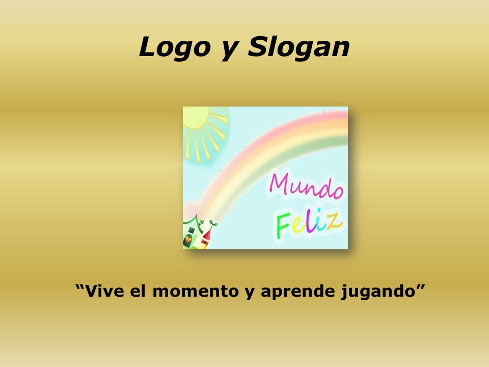 Logo y Slogan Vive el momento y aprende jugando