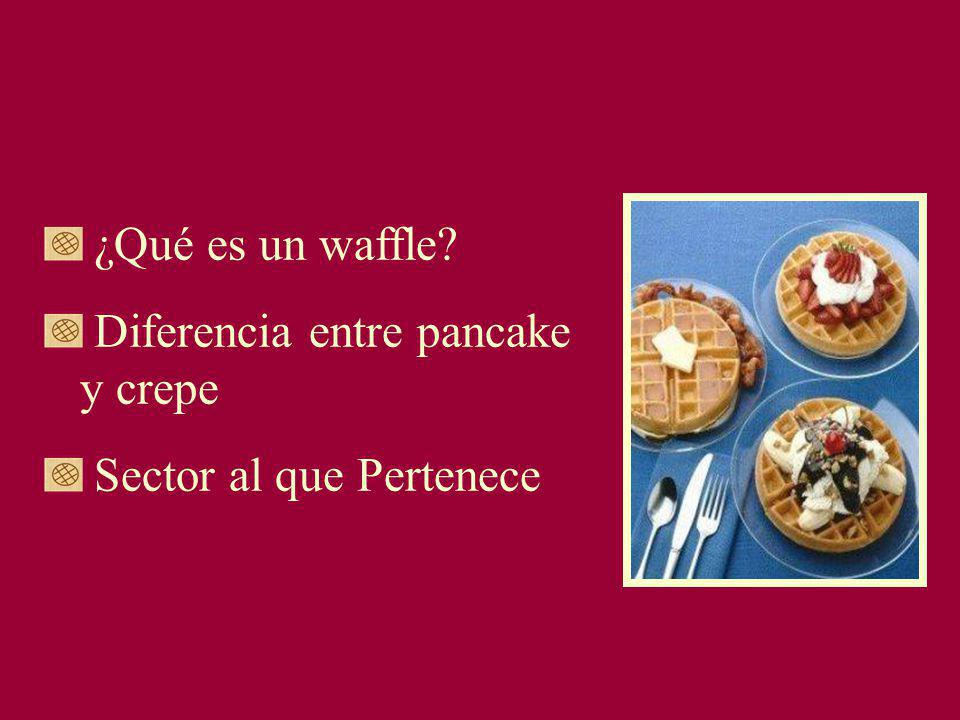 ¿Qué es un waffle? Diferencia entre pancake y crepe Sector al que Pertenece