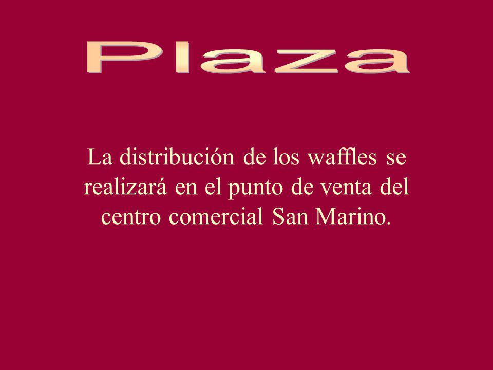 La distribución de los waffles se realizará en el punto de venta del centro comercial San Marino.