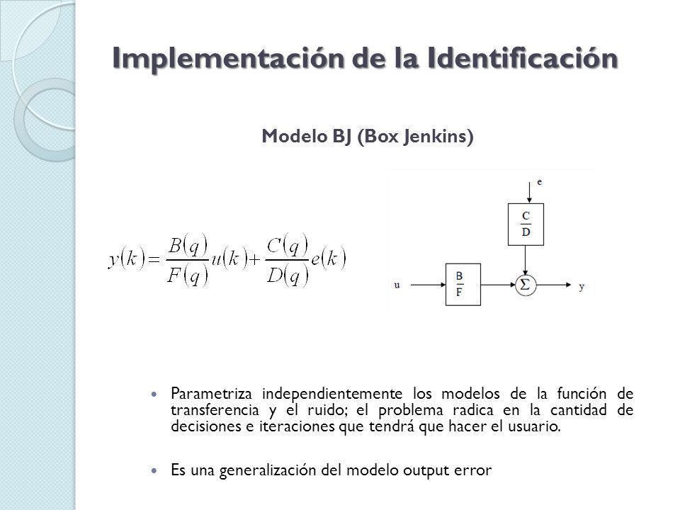 Implementación de la Identificación Tratamiento de la señal de entrada Señal multiseno prueba5 cargada en el workspace de Matlab