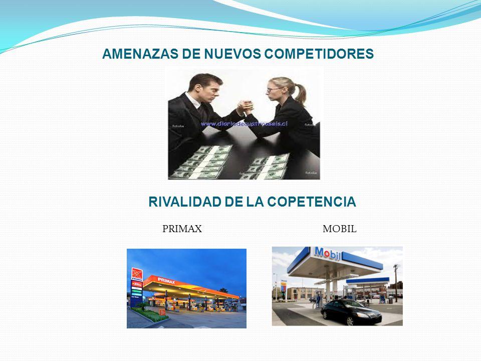AMENAZAS DE NUEVOS COMPETIDORES RIVALIDAD DE LA COPETENCIA PRIMAX MOBIL