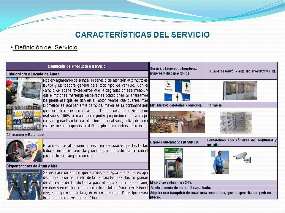 CARACTERÍSTICAS DEL SERVICIO Naturaleza del Servicio