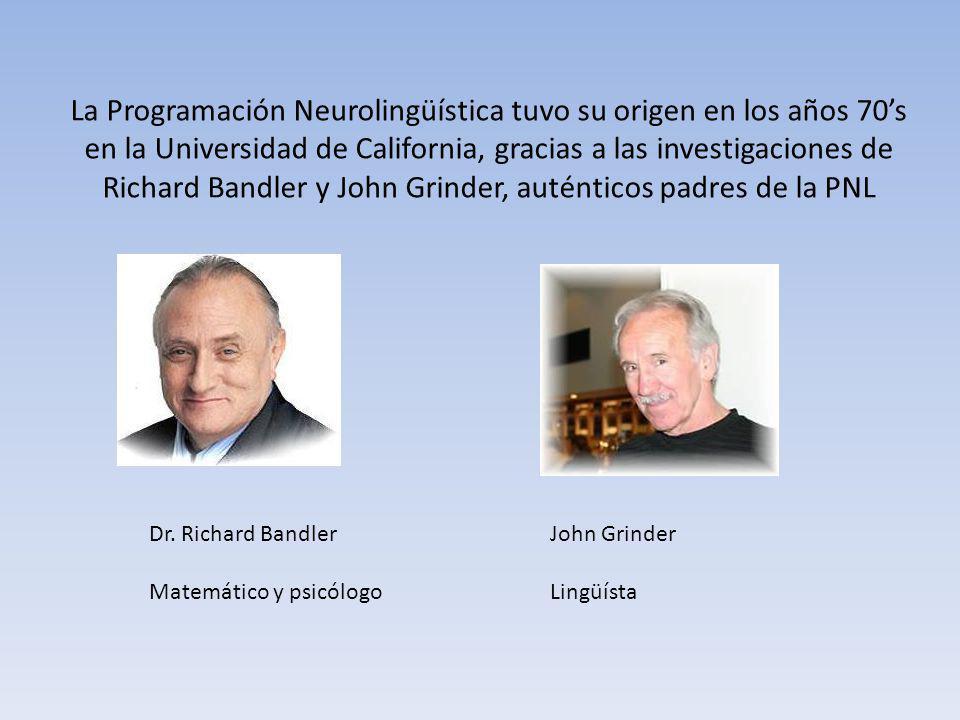La Programación Neurolingüística tuvo su origen en los años 70s en la Universidad de California, gracias a las investigaciones de Richard Bandler y Jo