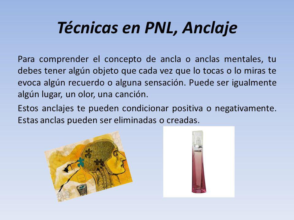 Técnicas en PNL, Anclaje Para comprender el concepto de ancla o anclas mentales, tu debes tener algún objeto que cada vez que lo tocas o lo miras te e