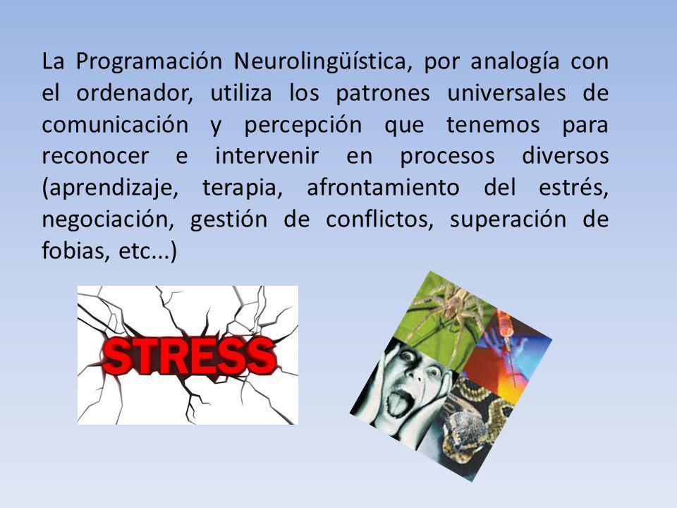 La Programación Neurolingüística, por analogía con el ordenador, utiliza los patrones universales de comunicación y percepción que tenemos para recono