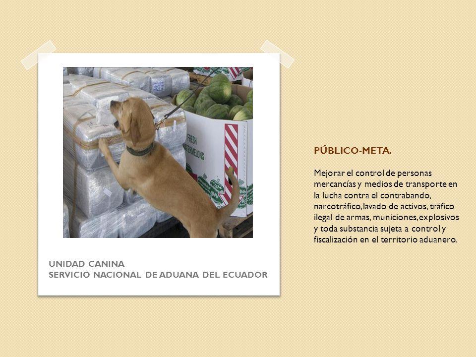 PÚBLICO-META. Mejorar el control de personas mercancías y medios de transporte en la lucha contra el contrabando, narcotráfico, lavado de activos, trá