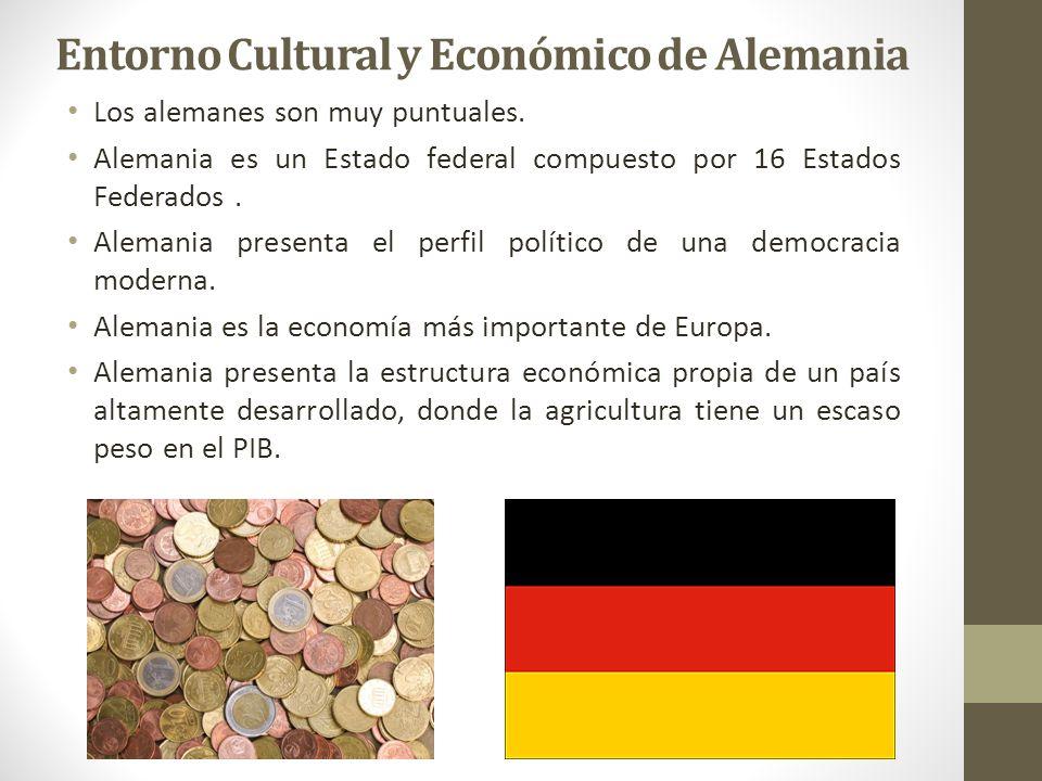 Entorno Cultural y Económico de Alemania Los alemanes son muy puntuales.