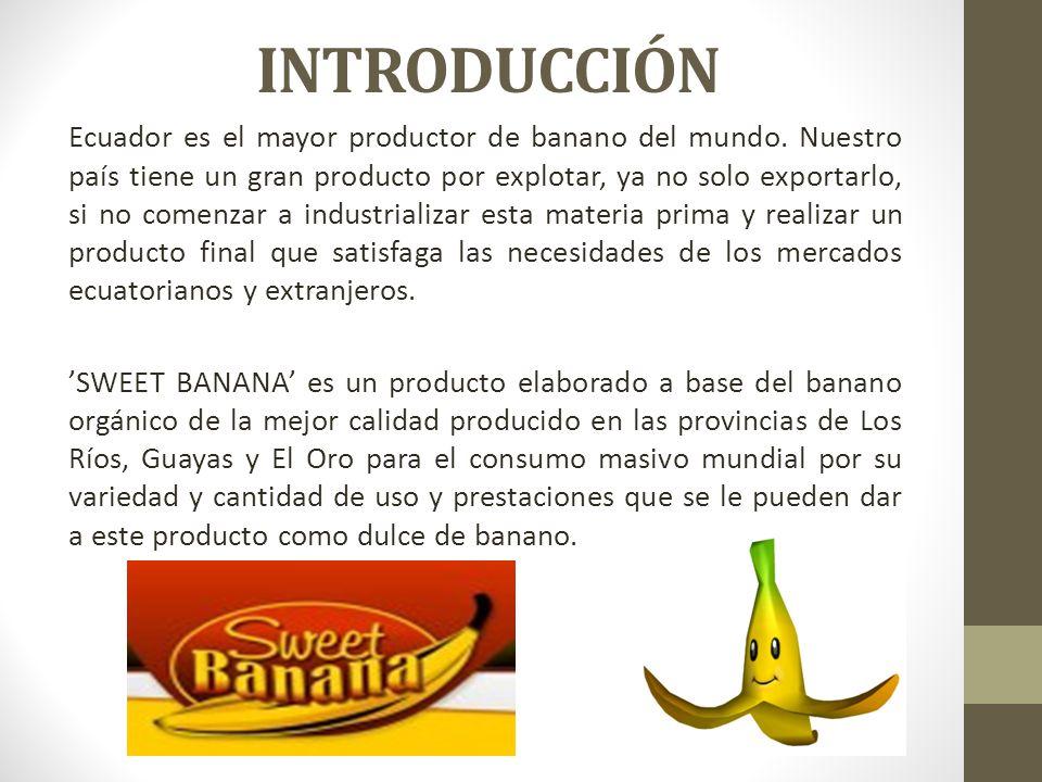 INTRODUCCIÓN Ecuador es el mayor productor de banano del mundo.