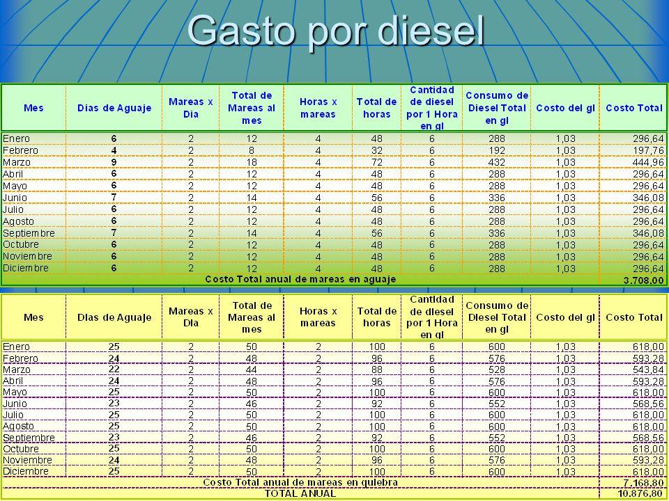 Gasto por diesel
