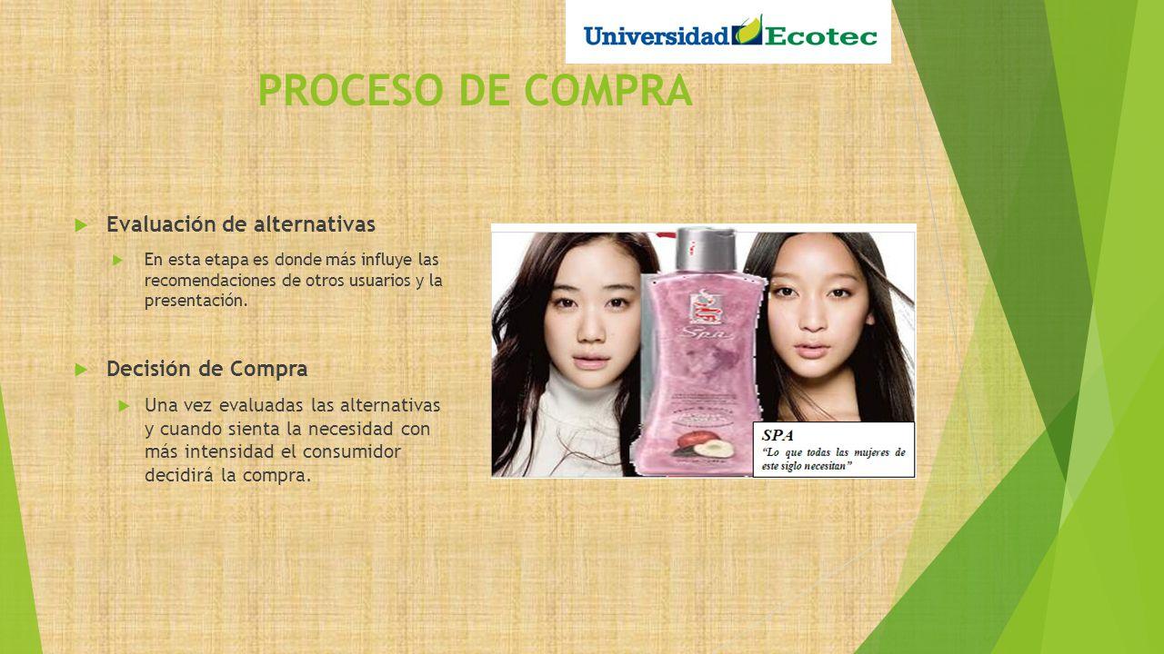 PROCESO DE COMPRA Compra El usuario puedo encontrar nuestro producto en supermercados, hipermercados y tiendas especializadas.