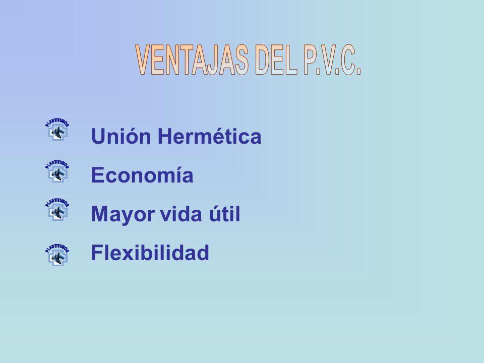 Unión Hermética Economía Mayor vida útil Flexibilidad