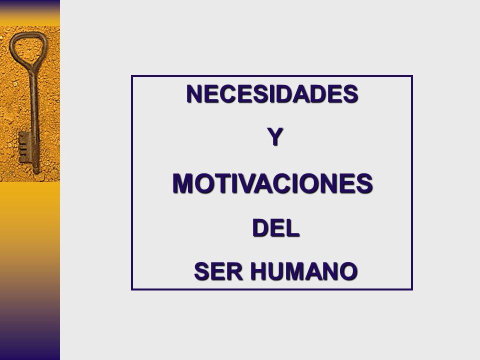 NECESIDADES YMOTIVACIONES DEL DEL SER HUMANO SER HUMANO