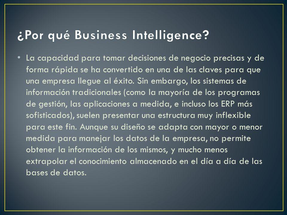 La capacidad para tomar decisiones de negocio precisas y de forma rápida se ha convertido en una de las claves para que una empresa llegue al éxito.