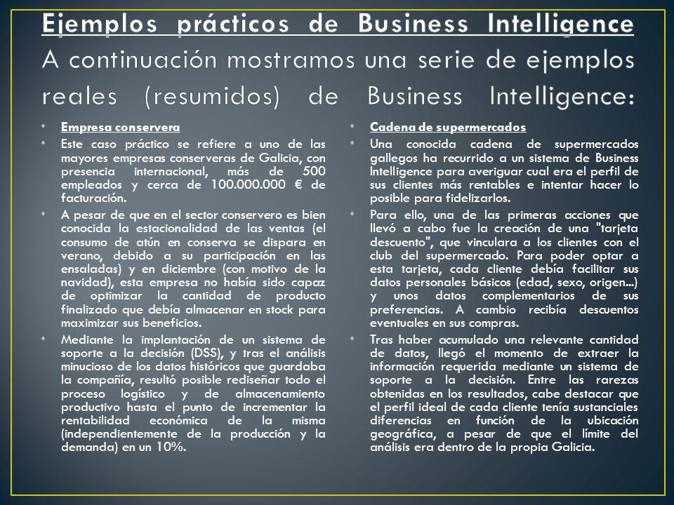 BI como solución tecnológica Centralizar, depurar y afianzar los datos.