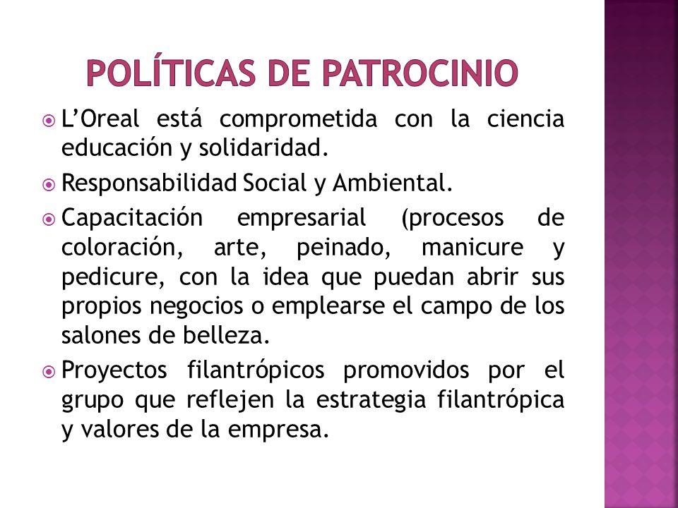 LOreal está comprometida con la ciencia educación y solidaridad. Responsabilidad Social y Ambiental. Capacitación empresarial (procesos de coloración,