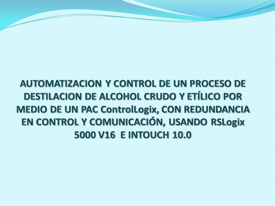 INTRODUCCION La realización del proyecto comprendió en la selección, instalación y puesta en marcha de un nuevo sistema de control y visualización del proceso de la planta de destilación de Alcohol de CODANA.